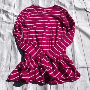Children's Place Long Sleeve Striped Dress Size 14